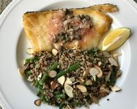 白身魚のソテーレモンソース添え - やせっぽちソプラノのキッチン2