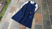 シンプルな襤褸ジャンパースカート - 古布や麻の葉