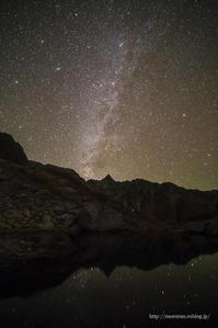 星空と逆さ槍 - moroyanのドタバタ夜景日記