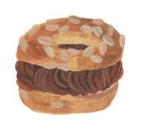 今日の絵「チョコのパリブレスト」 - vogelhaus note