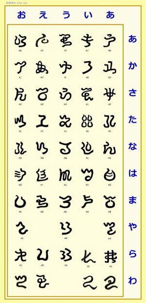 フォント アヒル草文字 史郎体A - 伊那の谷から古代が見える