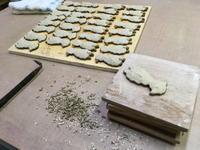 装飾と装飾台 - 週末陶芸家 フジサキウサジ