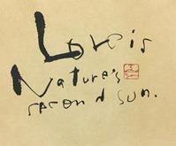 あっという間に…      「L」 - 筆文字・商業書道・今日の一文字・書画作品<札幌描き屋工山>