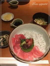 """2週連続!!""""和み酒 仁""""でマグロとシラスの丼@大阪/北新地 - Bon appetit!"""