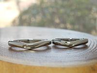 イニシャルをモチーフにした結婚指輪オーダーメイド|  岡山 - 工房Noritake
