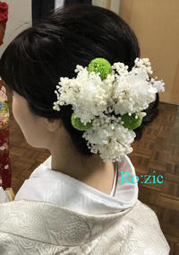 2018.10.14 和装ウェディングの髪飾り/プリザーブドフラワー/着物髪飾り - Ro:zic die  floristin