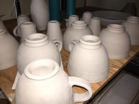 デミタスカップを、含め、四種類のコーヒーカップ! - 陶芸ブログ 限 無 窯    氷裂貫入青瓷の世界