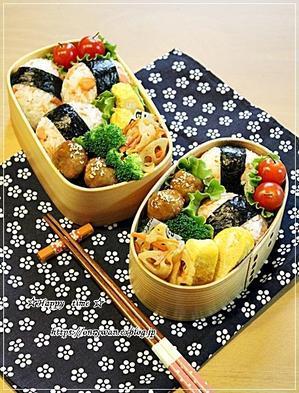 鮭むすび弁当とおうちでバゲット修行♪ - ☆Happy time☆