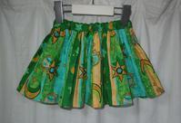 380.ミドリオレンジのスカート - フリルの子供服