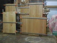 ミドルボードの接ぎ合わせ2回目 - 手作り家具工房の記録