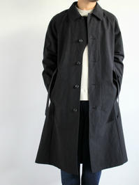 THE HINOKIBALMACAAN COAT - C/W HORSE CLOTH / BLACK - 『Bumpkins putting on airs』