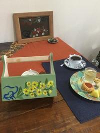フォークアートレッスン♪ - coco diary 山口県 お花と絵と楽しいティータイム