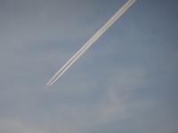 飛行機雲 - ネコと裏山日記