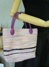 裂き織りBAG、模紗織りマフラー - アトリエひなぎく 手織り日記