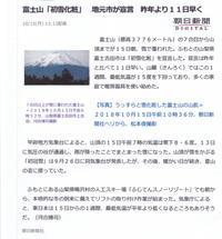 30年10月の富士番外編雪化粧の富士 - 富士への散歩道 ~撮影記~