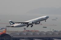 香港国際空港観景山から撮ったR/W07R離陸機① - 飛行機&鉄道写真館