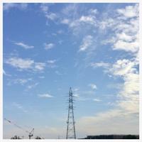 "p964 "" 秋雲 "" 松の川緑道 2018年10月17日 - 侘び寂び"