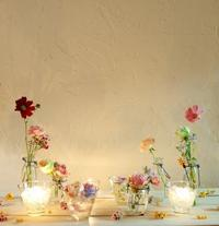 10月16日夜、キャンドルと器と花を自分で選ぶレッスン11月レッスン増発のお知らせ - 一会 ウエディングの花