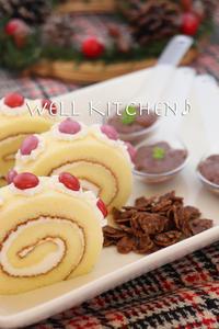 紅のクリスマスケーキはロールケーキだ! - 家族みんなのニコニコごはん