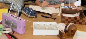 クランクを使って 動くおもちゃ 3・4時 - 子どものアート彩美館 Art of children