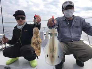 10月18日 ティップ  ラン 便。 - 三重県 志摩沖 エギング ティップラン 釣り船 まると屋