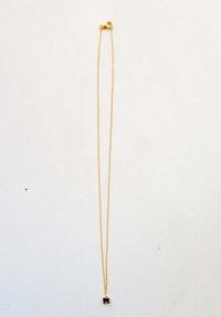 注文品のスモーキークオーツのゴールドネックレス - demoiselle M ~パリのアトリエよりお届けするアクセサリー