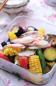 常備菜に。夏野菜の揚げ浸し - cafeごはん。ときどきおやつ