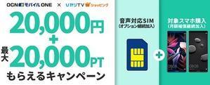10月24日まで ひかりTVのOCN格安スマホセット 3万P+2万円キャッシュバック - 白ロム転売法