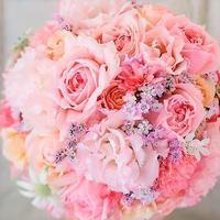 卒花嫁様アルバム秋のはじめ、明治記念館の花嫁様より生花のブーケを持つ幸せ - 一会 ウエディングの花