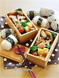 俵むすび弁当と今夜は煮込みハンバーグ♪ - ☆Happy time☆