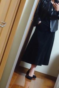 スカートはきました、革のライダーズジャケットで。 - おしゃれ自己満足日記