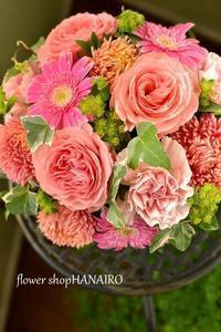 お誕生日のお祝いに贈る♪フラワーアレンジメント。 - 花色~あなたの好きなお花屋さんになりたい~