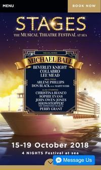 Musical Theatre Festival at Sea(10月15日 - 19日) - リタイア夫と空の旅、海の旅、二人旅