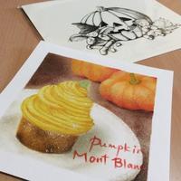 かぼちゃのモンブラン - アトリエ絵くぼの創作日誌
