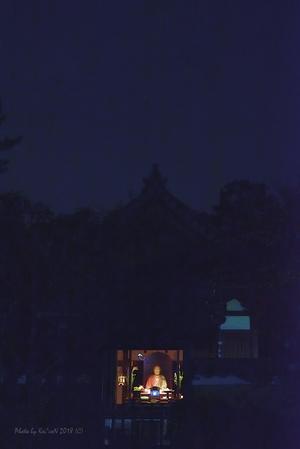 月夜の御身代わり像 @ 唐招提寺 - 東大寺が大好き
