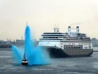 """10月19日(金)、神戸港第4突堤の客船""""AMSTERDAM""""が入りました - フォトカフェ情報"""