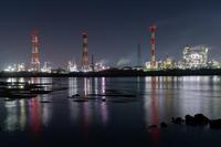 cool night ~四日市工業地帯塩浜エリア - katsuのヘタッピ風景