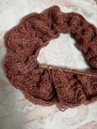 新作ニットの試し編み - ニットの着樂