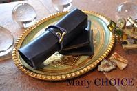 セミオーダー・革の宝石ルガトー・ロールペンケースと名刺入れ・時を刻む革小物 - 時を刻む革小物 Many CHOICE~ 使い手と共に生きるタンニン鞣しの革