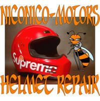 Supreme SIMPSON BANDIT ST M2015 LG Helmet Repair ヘルメットリペア ヘルメット修理店 ニコニコモータース - HELMET REPAIR ヘルメットリペア ニコニコモータース