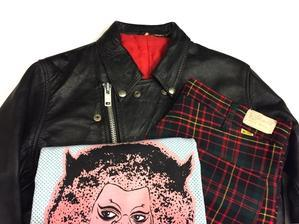 「 RIDERS JACKET + CHECKED PANTS 」 - GIANT BABY    used&vintage clothing & culture & happy