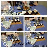 スペシャル‼中国茶お点前 - 猫が見学に…。東京大田区駅前のデコパージュ、ソスペーゾトラスパレンテ(3D)中心のクラフト教室Le Chat Noir(ル シャノワール)