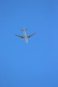 青い空と飛行機 - 平凡な日々の中で