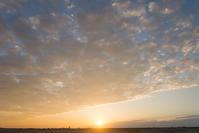今日の夕日夕焼け。 - 東に向かえば海がある