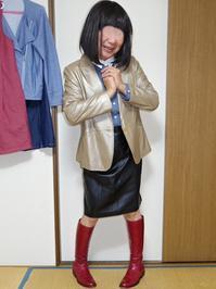 新しい革ジャケット - レザー純子
