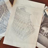 コロッセオのアンティーク図版 - フランスアンティーク雑貨・家具のSibora BLOG