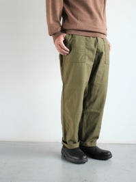 ARANFATIGUE PANTS - BACK SATIN / ARMY GREEN - 『Bumpkins putting on airs』