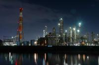 cool night ~四日市工業地帯大正橋エリア - katsuのヘタッピ風景