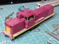 KATOのDE10塗装開始 - Sirokamo-Industry