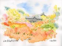 秋の東福寺通天橋 - 風と雲